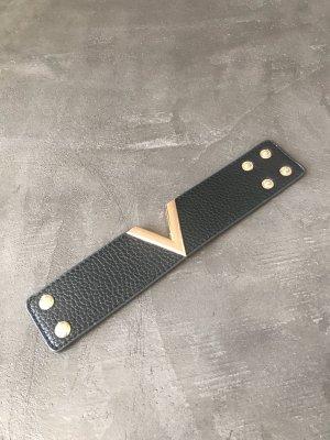 Armband zwart-goud
