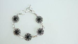 Armband zwart-zilver Zilver