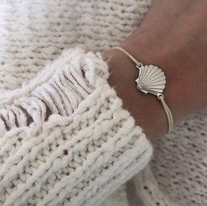 Armband Seashell Ikona purelei Silber beige