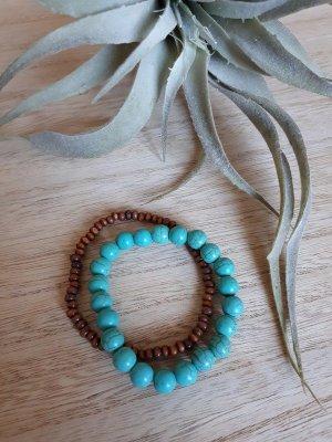 Armband Set Perlen Türkis