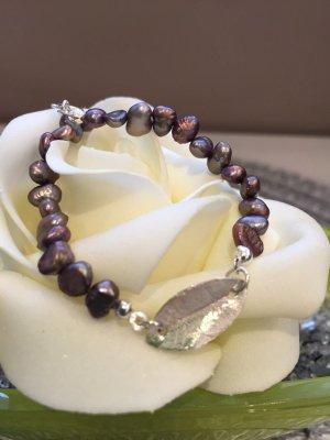 Armband Silber 925 mit barocken Perlen, sehr elegant, Handarbeit, Top!!