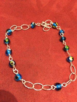 Armband Silber 925 mit glas Perlen, Handarbeit, Modeschmuck, Top!!