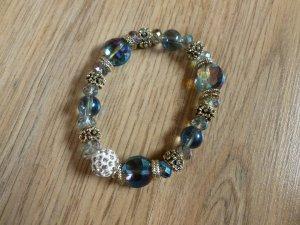Armband silber blau uni