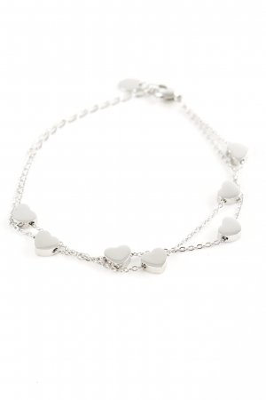 Bracelet silver-colored casual look