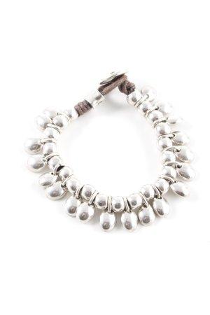 Armband zilver-lichtbruin casual uitstraling