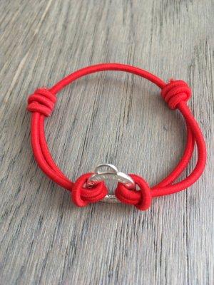 Thomas Sabo Braccialetto sottile argento-rosso