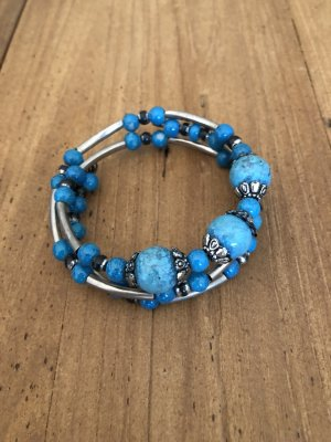 Armlet silver-colored-turquoise