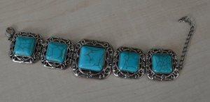Armband türkis-silber (versilbert)