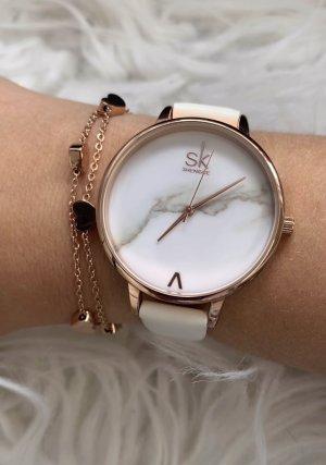 Armband Uhr Marmor Herzchenarmband