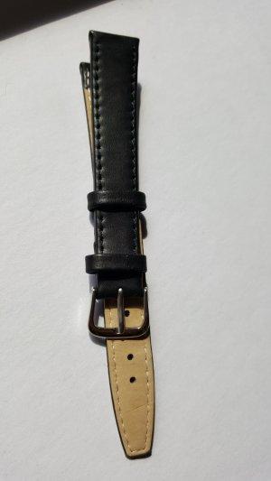 Armband Uhrenarmband echtes Leder schwarz neu 1,6 mm breit