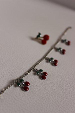 Armband und Brosche Cherries