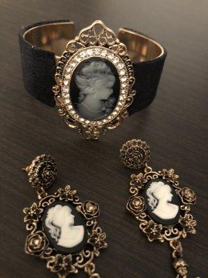 Armband und Ohrringe