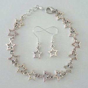 Armband und Ohrringe Sterne