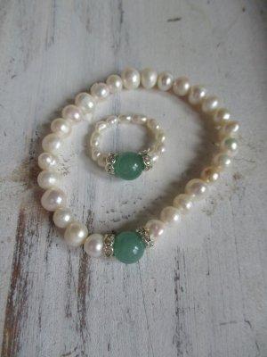 Pearl Bracelet white-green