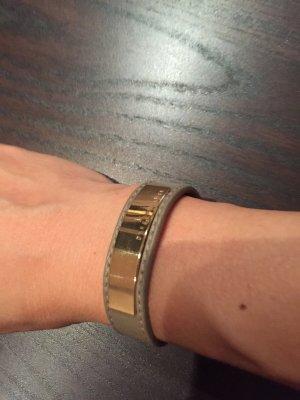 Dyrberg/Kern Lederen armband grijs-bruin