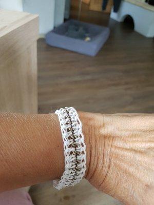 Armband weiß/silber