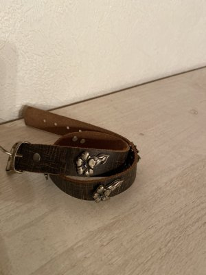 Leather Bracelet brown-silver-colored