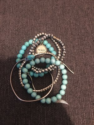 Bracelet silver-colored-turquoise