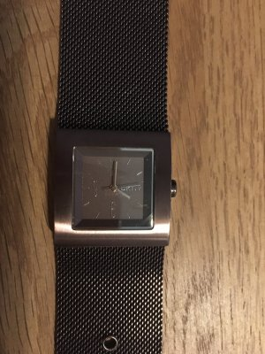 DKNY Watch With Metal Strap dark brown