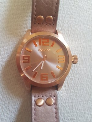 Oozoo Watch With Leather Strap rose-gold-coloured-dusky pink