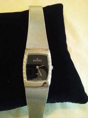 Skagen Horloge met metalen riempje zilver-donkerblauw