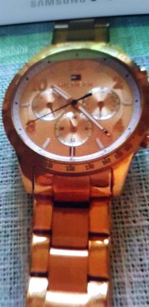 Gigi Hadid x Tommy Hilfiger Reloj con pulsera metálica rosa