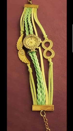 Armbanduhr, Armband, Türkis mit Highlights. Gut wie ungetragen