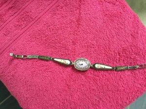 Armbanduhr, Automatik, lila, Stein bemalt