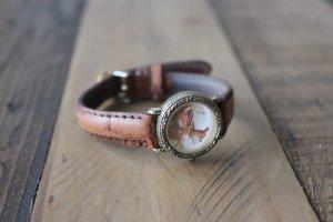 Armbanduhr braun gold Bambi