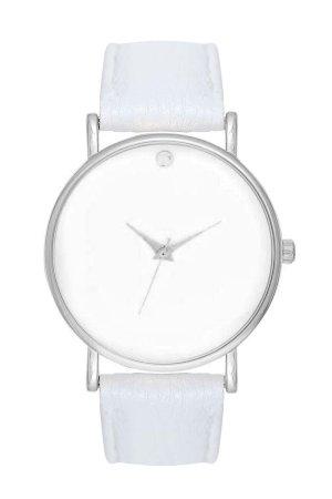 ♥ Armbanduhr Damenuhr Uhr Analog Minimal Design Fashion Farben: Silber, Weiß ♥