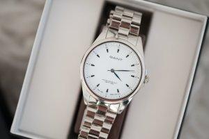 Armbanduhr GANT Edelstahl weißes Ziffernblatt