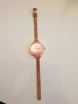 Geneva Horloge met metalen riempje roségoud