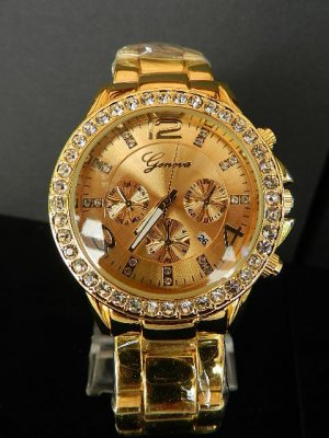 Reloj analógico color oro