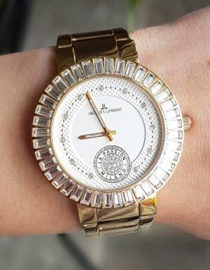 Armbanduhr in gold von Jacques Lemans