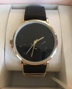 Armbanduhr in schwarz & gold