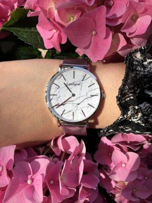 Armbanduhr in Silber Mesh Marmor Optik