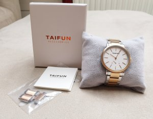 Taifun Watch With Metal Strap silver-colored-rose-gold-coloured metal