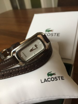 Lacoste Watch With Leather Strap multicolored