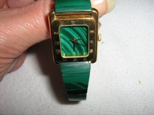 Digital Watch forest green-gold-colored others