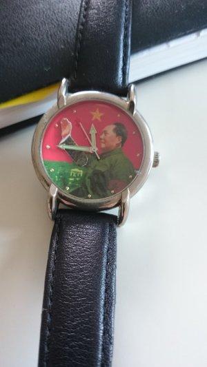 Armbanduhr Mao Tse Tung, Lederarmband