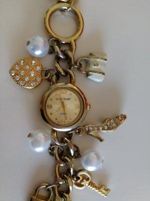 Bodyflirt Horloge met metalen riempje goud