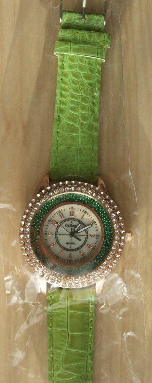 Armbanduhr  mit beweglichen Strass-Steinen