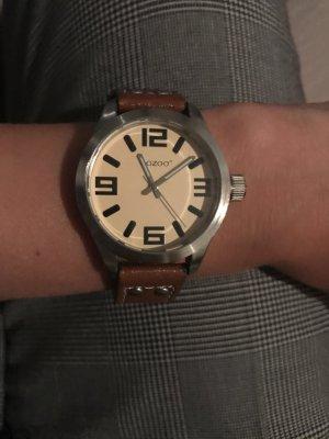 Armbanduhr mit Lederarmband von Ozoo zuverkaufen
