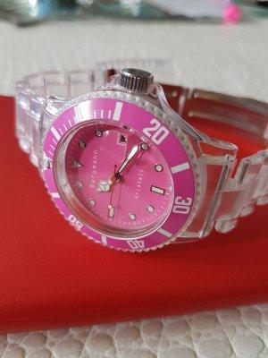 Armbanduhr pink durchsichtig