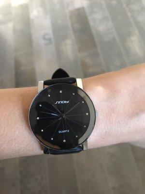Armbanduhr Quartz silber / schwarz
