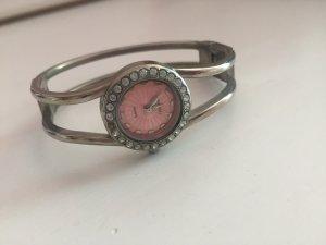 Armbanduhr rosa silber