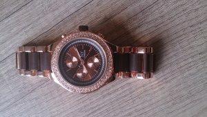 Armbanduhr rosé-gold/braun