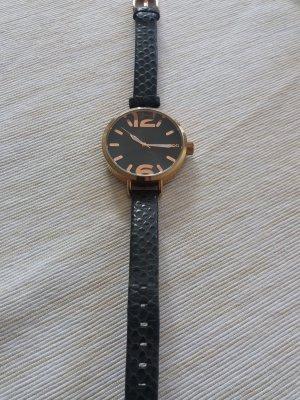 Armbanduhr schwarz-gold