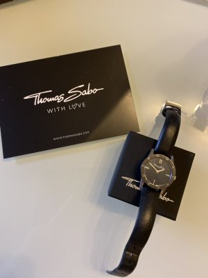 Thomas Sabo Watch With Leather Strap black-silver-colored