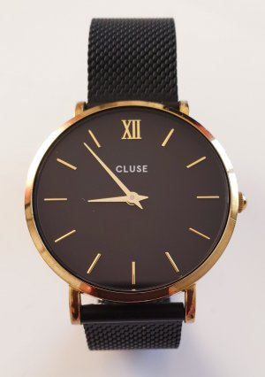 Cluse Watch With Metal Strap black-gold-colored